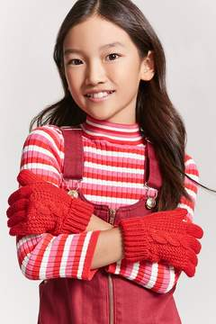 Forever 21 Girls Cable Knit Gloves (Kids)