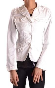 Geospirit Women's White/black Polyester Blazer.