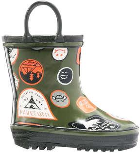 Joe Fresh Baby Boys' Rain Boots, Khaki Green (Size 4)