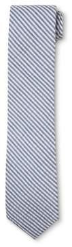Merona Men's Seersucker Blue And White Stripped NeckTie Blue