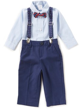 Starting Out Baby Boys 3-24 Months Striped Shirt, Twill Pants, Bow Tie & Clip-On Suspenders 3-Piece