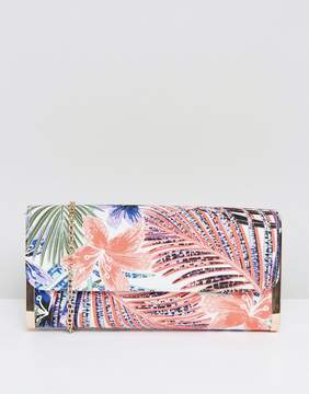 New Look Palm Leaf Clutch Bag