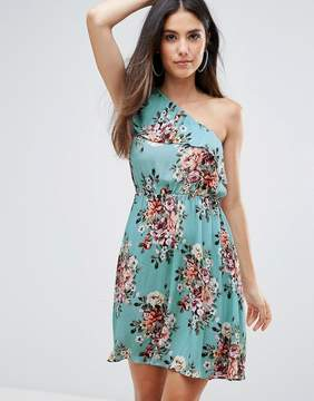 Club L One Shoulder Floral Printed Dress