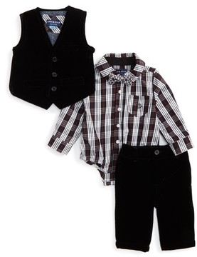 Andy & Evan Infant Boy's Velvet Vest & Pants Set
