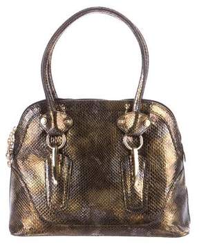 Stuart Weitzman Embossed Leather Gotti Handle Bag
