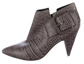 Sigerson Morrison Embossed Leather Ankle Boots