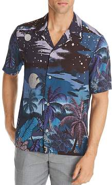 Paul Smith Hawaiian Print Regular Fit Button-Down Shirt