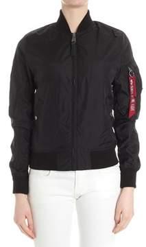 Alpha Industries Women's Black Polyester Outerwear Jacket.
