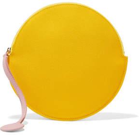Roksanda Textured-leather Pouch - Yellow