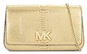 Michael Kors Women's Gold Leather Shoulder Bag. - GOLD - STYLE