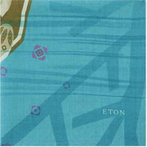 Eton Cheetah wool and silk pocket square