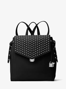Michael Kors Bristol Medium Studded Leather Backpack - BLACK - STYLE