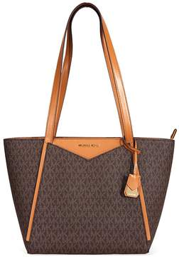 Michael Kors Small Whitney Signature Logo Tote - Brown - ONE COLOR - STYLE