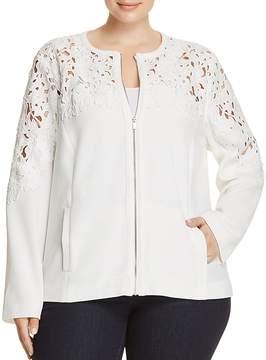 Bagatelle Plus Crochet Panel Jacket - 100% Exclusive