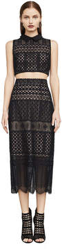 BCBGMAXAZRIA Flo Two-Piece Lace Dress