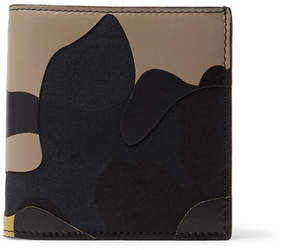 Valentino Camouflage-Print Leather And Canvas Billfold Wallet