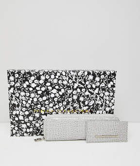 French Connection snakeskin purse and cardholder gift set
