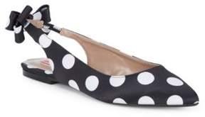 Betsey Johnson Ann Polka Dot Textile Flats