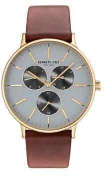 Kenneth Cole Round Blue-Dial Watch