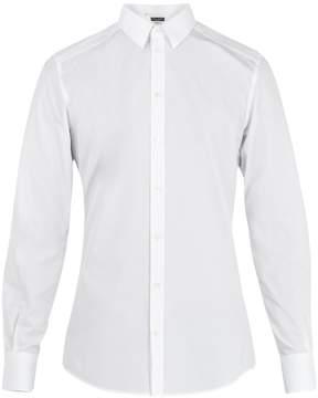 Dolce & Gabbana Convertible-cuff cotton-poplin shirt