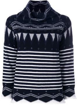 Cruciani intarsia knit jumper