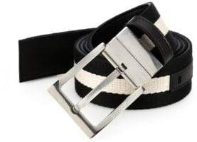 Bally Striped Reversible Belt