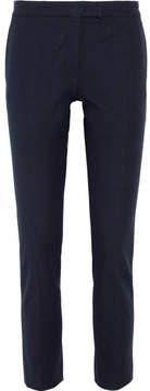 Joseph Finley Cropped Stretch-gabardine Slim-leg Pants - Navy