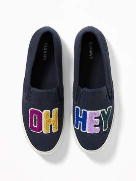 Old Navy Oh Hey Graphic Slip-Ons for Women