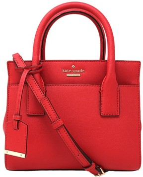 Kate Spade Women's Cameron Street Mini Candace Satchel Leather Top-Handle Bag - Rooster Red - ROOSTER RED - STYLE