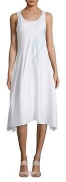Context Flutter Raw-Hem A-Line Dress