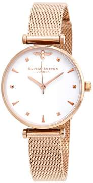 Olivia Burton Queen Bee White Dial Ladies Watch