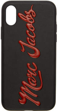 Marc Jacobs Black Glossy Logo iPhone X Case