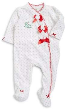 Little Me Baby Girl's My First Christmas Footie