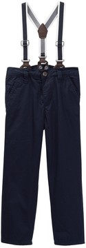 Joe Fresh Suspender Jersey Lined Chino (Toddler & Little Boys)
