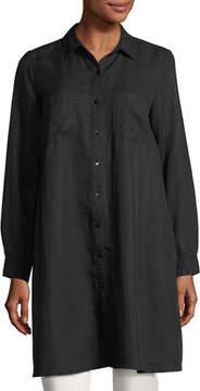 Eileen Fisher Long-Sleeve Button-Front Shirtdress