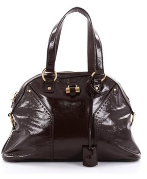 Saint Laurent Pre-owned: Muse Shoulder Bag Patent Large. - BROWN - STYLE