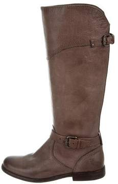 Frye Buckle-Accented Knee-High Boots