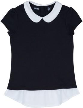 Chaps Girls 4-16 School Uniform Peter Pan Collar Top