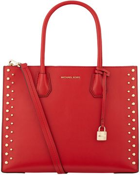 Michael Kors Large Studded Mercer Tote Bag - RED - STYLE