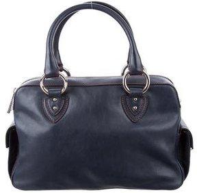 Marc Jacobs Leather Shoulder Bag - BLUE - STYLE