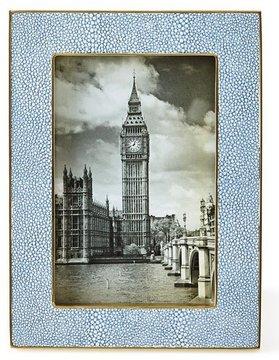 AERIN Blue Shagreen 4 x 6 Frame
