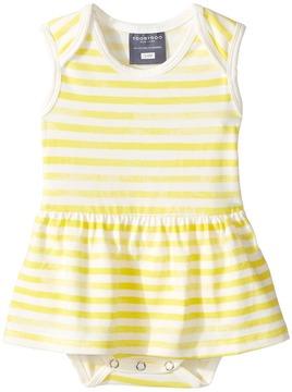Toobydoo Yellow Watercolor Stripe Ballerina Suit (Infant)
