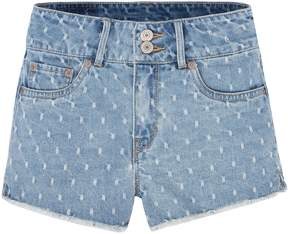 Levi's Girls 7-16 High Rise Novelty Shorty Jean Shorts