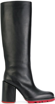 Jil Sander tall pointed boots