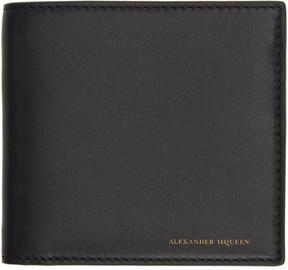 Alexander McQueen Black Leather Bifold Wallet