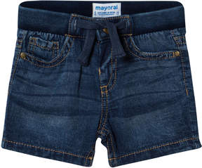 Mayoral Blue Dark Wash Denim Shorts