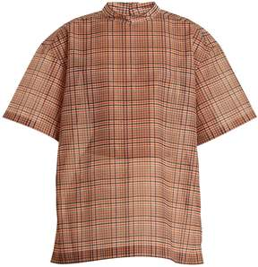 Toga High-neck checked mesh top