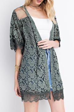 Easel Lace Knit Cardigan