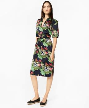 Brooks Brothers Tropical-Print Cotton Sateen Tunic Dress