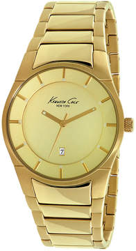 Kenneth Cole New York Men's Gold-Tone Ion-Plated Stainless Steel Bracelet Watch 42mm 10027726